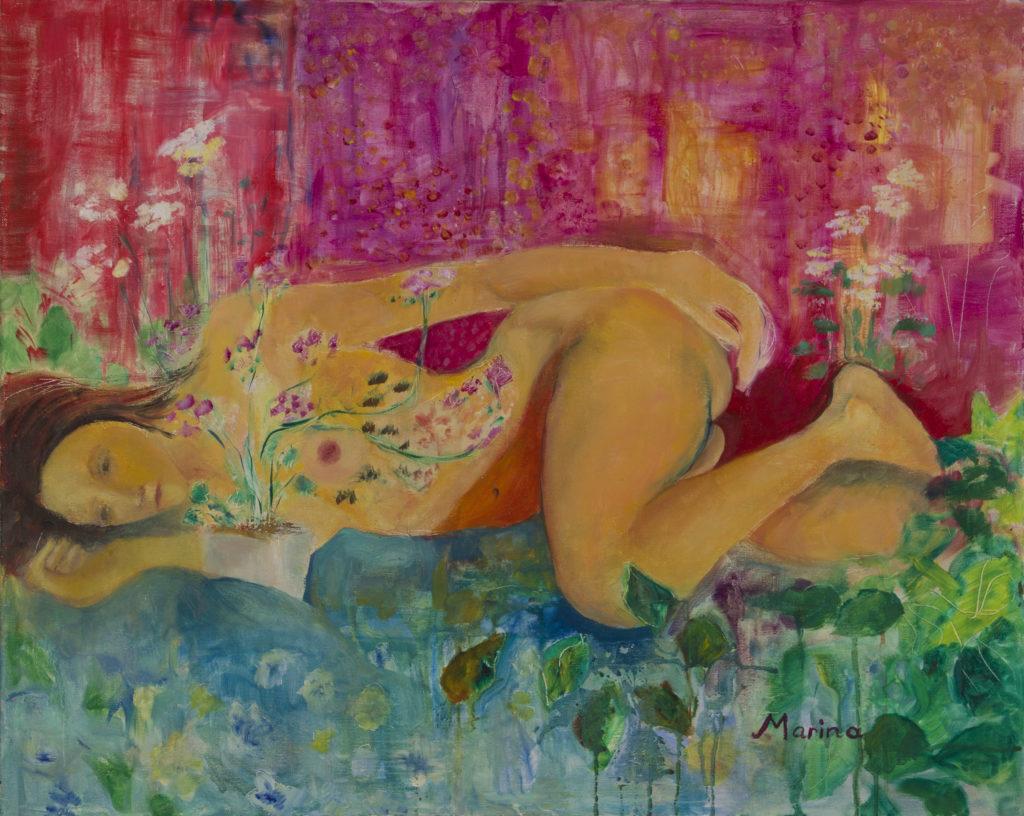 Nude Flower Girl no frame